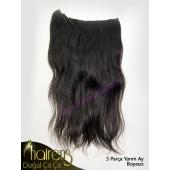 Hairens Boyasız Yarım Ay Çıt Çıt Saç