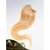 Sıcak Sarı Doğal Gerçek Çıt Çıt Saç