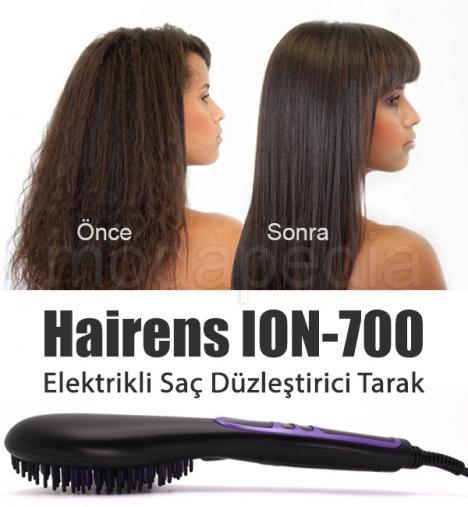 Hairens ION-700 İyonik Seramik Elektrikli Saç Düzleştirici Tarak