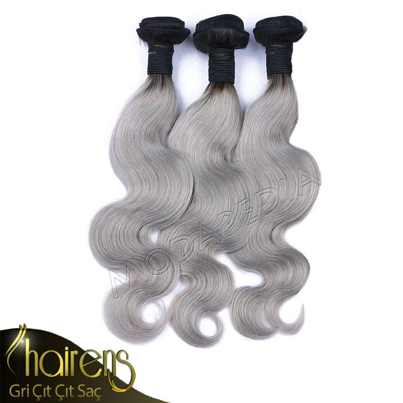 100gr. Akmayan Ombre Gri Renk Doğal Tres Saç